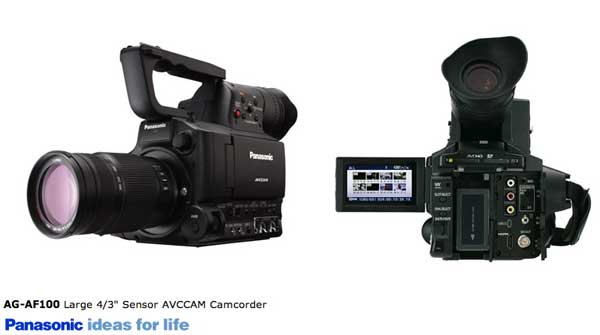 "AG-AF100 Professional 4/3"" Large Image Video Camcorder for High-Definition Video Recording"